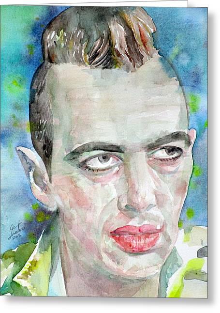 Joe Strummer - Watercolor Portrait.4 Greeting Card