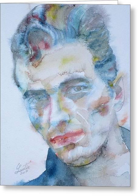 Joe Strummer - Watercolor Portrait.5 Greeting Card