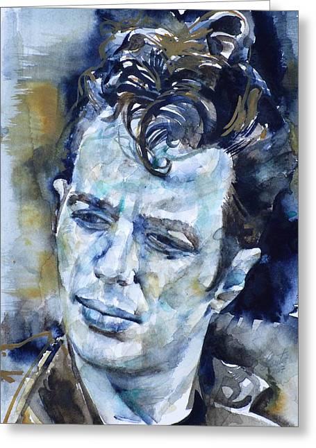 Joe Strummer - Watercolor Portrait.6 Greeting Card