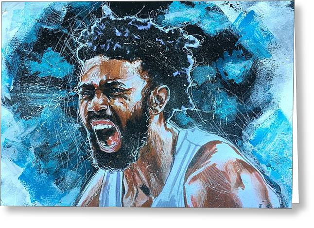Greeting Card featuring the painting Joel Berry II by Joel Tesch