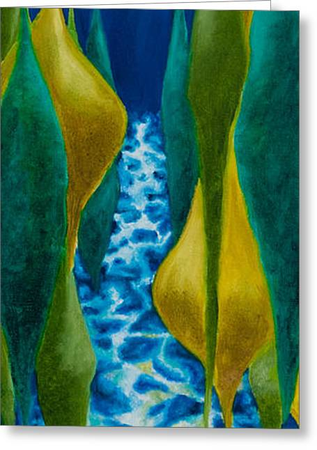 Joel's River Greeting Card by Eliza Furmansky