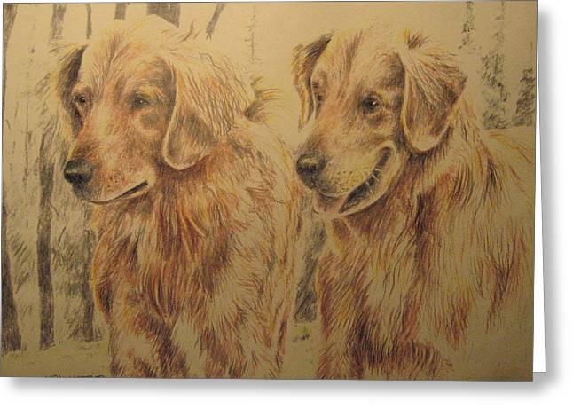 Joe's Dogs Greeting Card