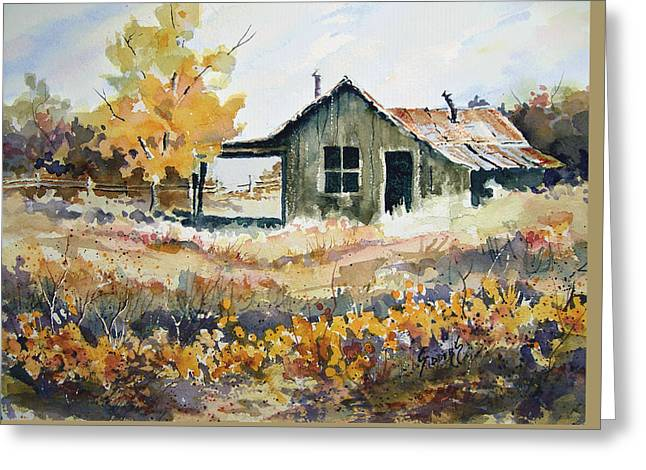 Greeting Card featuring the painting Joe's Place II by Sam Sidders