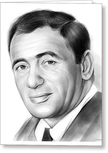 Joey Bishop Greeting Card by Greg Joens