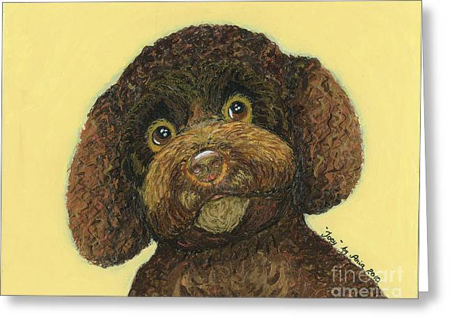 Joey Poodle Mix Greeting Card