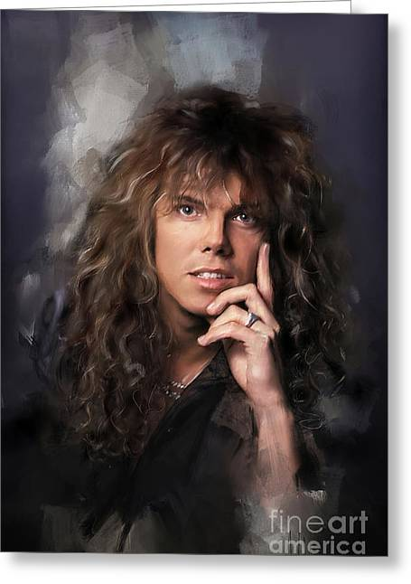 Joey Tempest Greeting Card