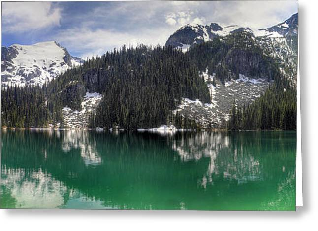 Joffre Lake Middle Panorama B.c Canada Greeting Card by Pierre Leclerc Photography