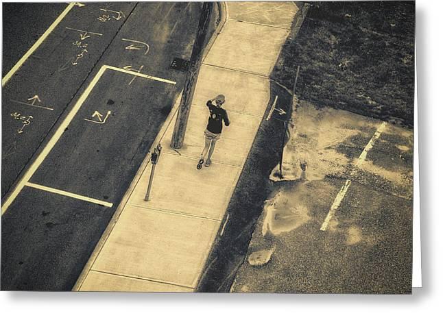 Jogging Greeting Card by Bob Orsillo