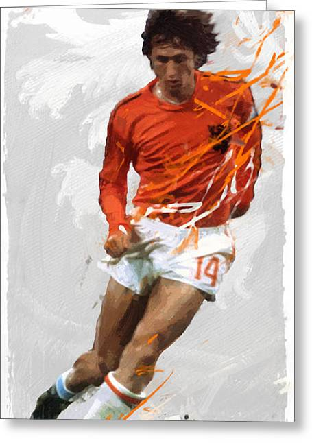 Johan Cruyff Greeting Card