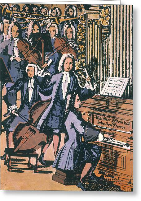 Johann Sebastian Bach, 1732 Greeting Card by Granger