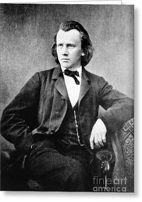 Brahms Greeting Cards - Johannes Brahms, German Composer Greeting Card by Omikron