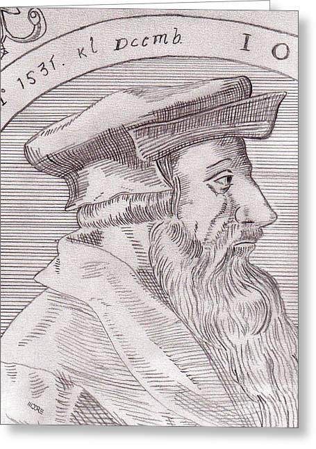 Johannes Oecolampadius Greeting Card