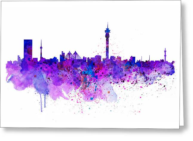 Johannesburg Skyline Greeting Card