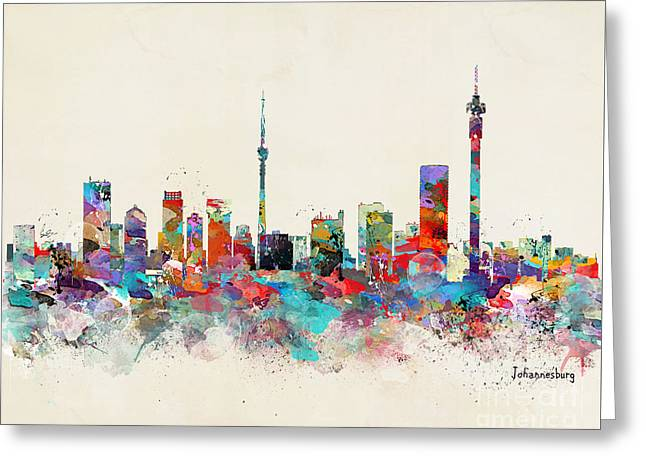Johannesburg South Africa Skyline Greeting Card