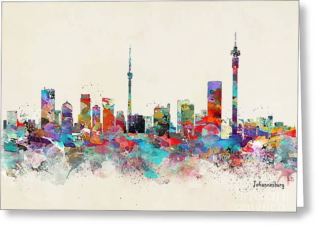 Johannesburg South Africa Skyline Greeting Card
