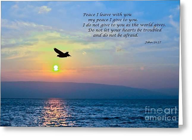 John 14  27 Greeting Card