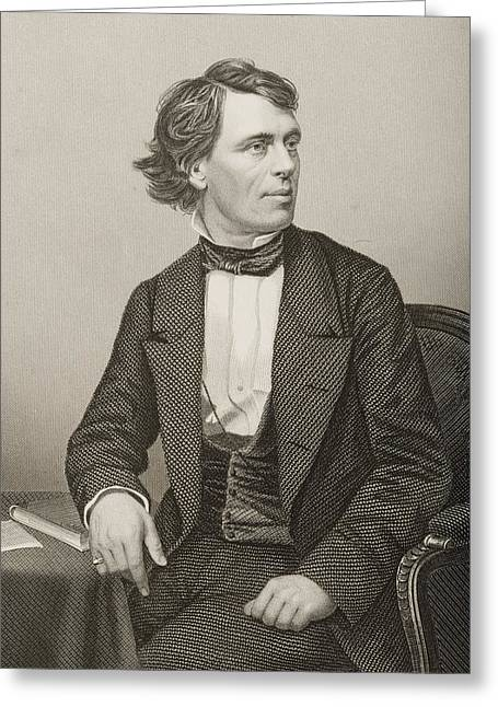 John Batholomew Gough, 1817-1886 Greeting Card by Vintage Design Pics