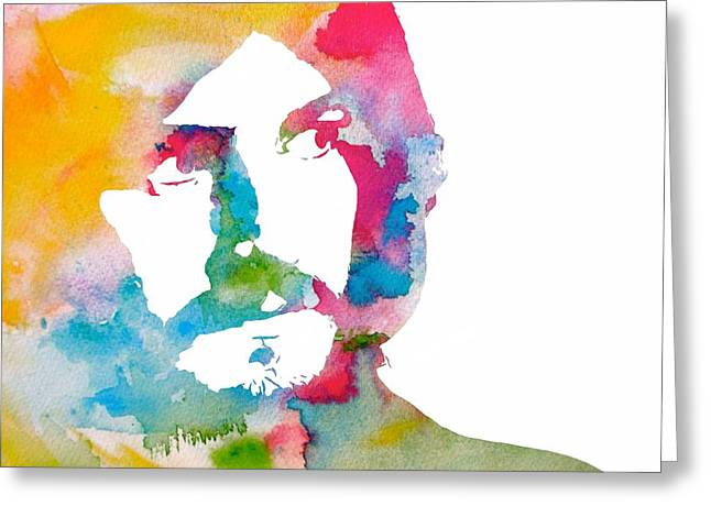 John Bonham Watercolor Greeting Card by Dan Sproul