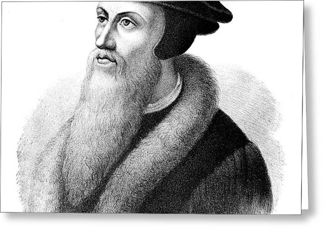 John Calvin Greeting Card