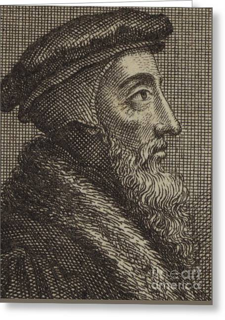 John Calvin, French Theologian And Pastor Of The Protestant Reformation  Greeting Card