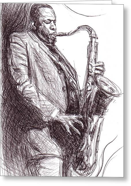 John Coltrane 1 Greeting Card