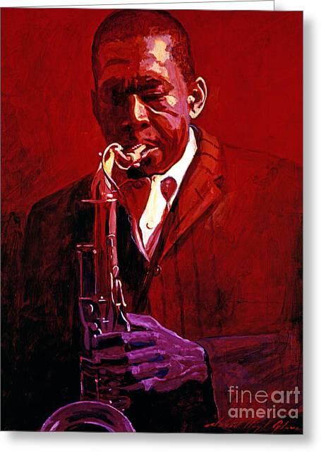 John Coltrane Greeting Card by David Lloyd Glover