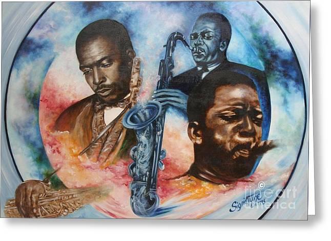Blaa Kattproduksjoner     John Coltrane - Jazzed  Greeting Card