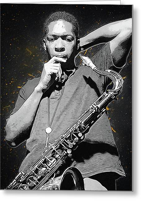 John Coltrane Greeting Card