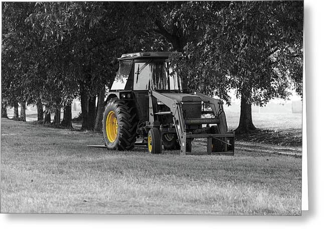 John Deere 620 In Selective Color Greeting Card