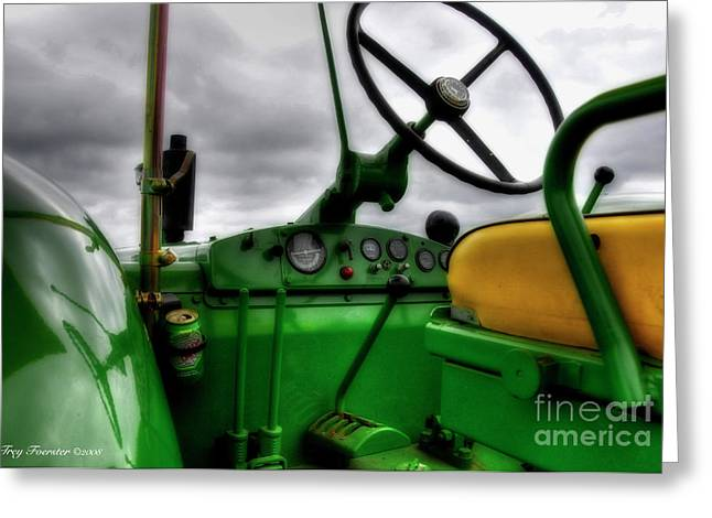 Greeting Card featuring the photograph John Deere 830 Dash by Trey Foerster