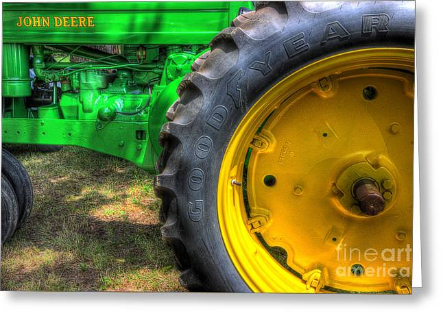 John Deere And Goodyear Greeting Card by Michael Eingle