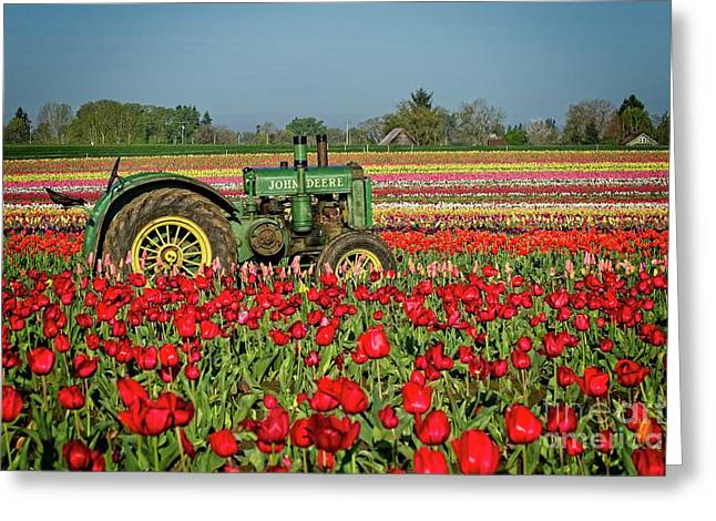 Greeting Card featuring the photograph John Deere by Craig Leaper