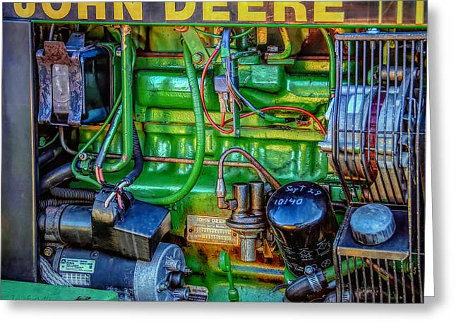 John Deere Engine Greeting Card by Trey Foerster