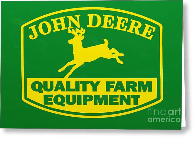 John Deere Farm Equipment Sign Greeting Card by Randy Steele