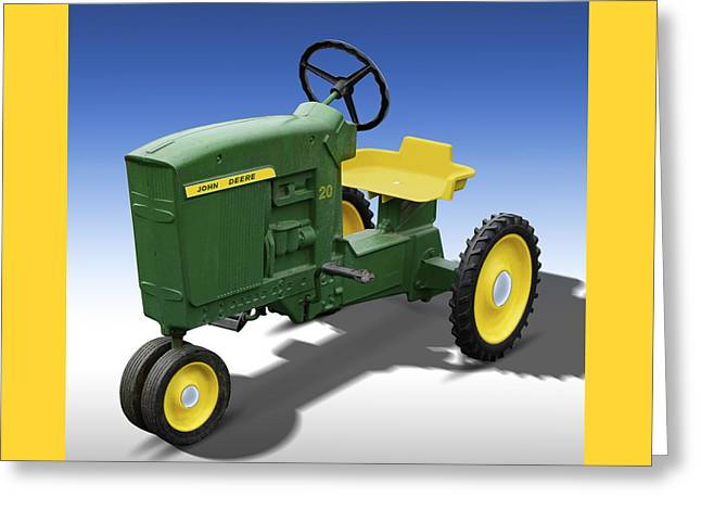 John Deere Peddle Tracter Greeting Card by Mike McGlothlen