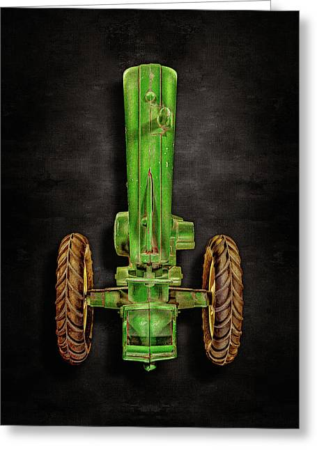 Greeting Card featuring the photograph John Deere Top On Black by YoPedro