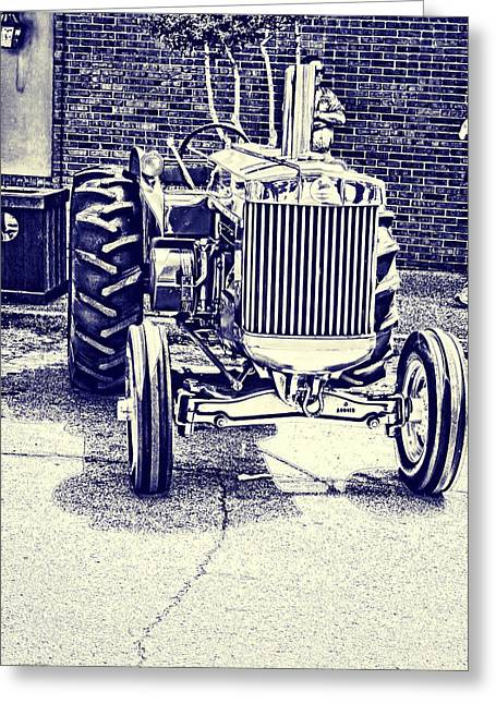 John Deere Tractor Art Greeting Card