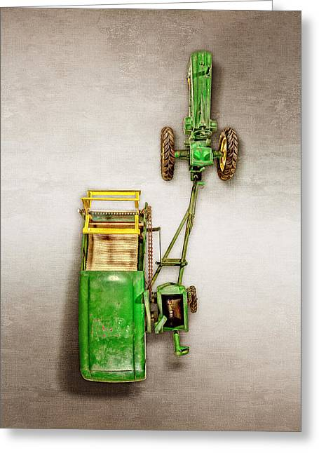 John Deere Tractor Harvester Greeting Card by YoPedro