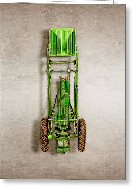 John Deere Tractor Loader Greeting Card by YoPedro