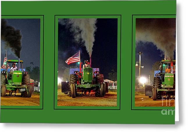 John Deere Tractor Pull Poster Greeting Card