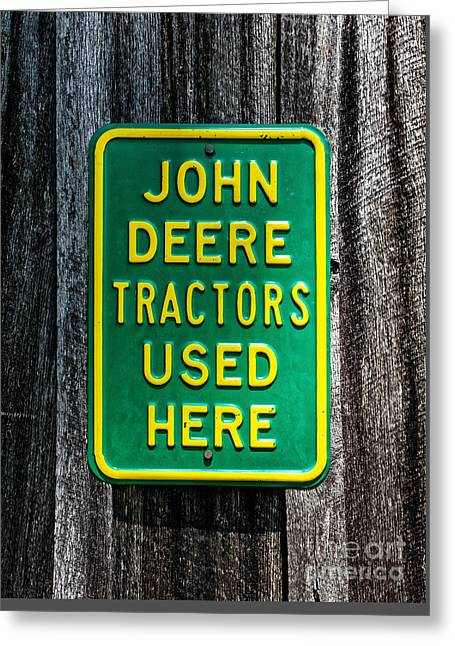 John Deere Used Here Greeting Card