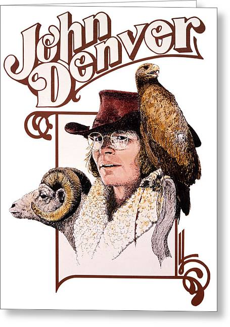 John Denver Eagle Greeting Card by John D Benson
