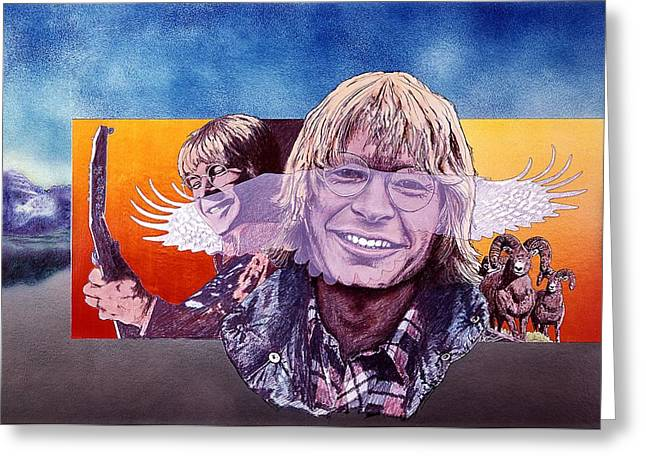John Denver Greeting Card by John D Benson