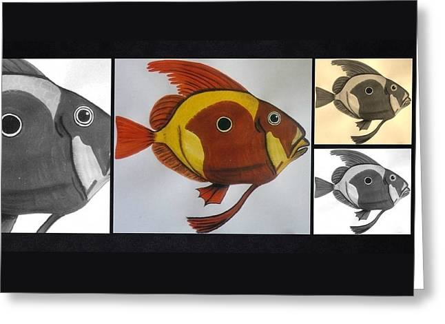 John Dory Collage Greeting Card