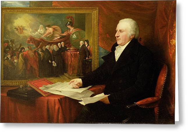 1820 Greeting Cards - John Eardley Wilmot  Greeting Card by Benjamin West