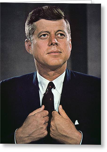 John F Kennedy Greeting Card by American School