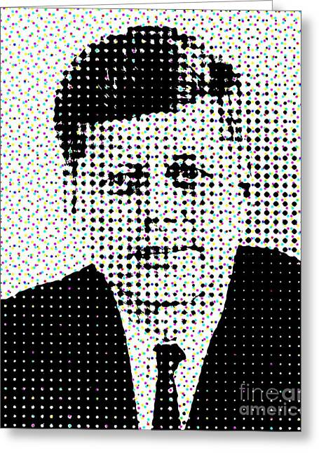 John F Kennedy In Dots Greeting Card