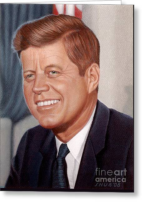 John F. Kennedy Greeting Card by Stephen Shub