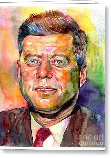 John F. Kennedy Watercolor Greeting Card