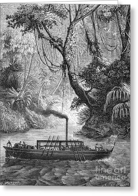 John Fitch Steamboat Greeting Card by Granger